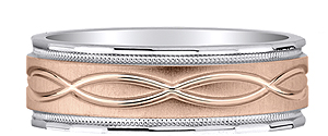 Order Two Tone Gold Men's Wedding Bands.