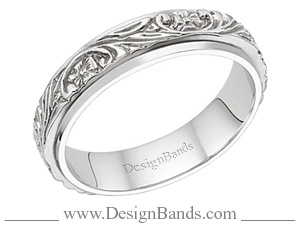 Engraved Wedding Ring Image Design Bands
