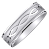 High Quality White Gold Celtic Wedding Bands.