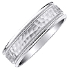 Premium Men's and Women's White Gold Wedding Band.