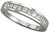 Order Women's Princess Cut Diamond Wedding Bands.