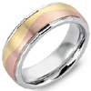 Buy Men's and Women's Tri Color Rose Gold Wedding Bands.