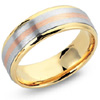 Shop For Men's and Women's Tri Color Rose Gold Wedding Bands.