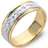Shop For Two Tone Gold Engraved Wedding Rings.