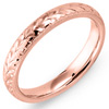 Premium Rose Gold Etched Wedding Rings.