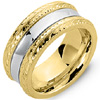 Premium Two Tone Vintage Wedding Bands.