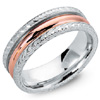 Buy Two Tone Antique Wedding Rings.
