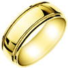 Wedding Band Style:WB-1701-Y 8mm