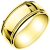Wedding Band Style:WB-1701-Y 9mm