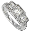 Premium Women's Princess Cut Diamond Engagement Bands.