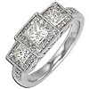 Women's Diamond Ring Style:A249DWR4W-M-L