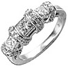 Women's Diamond Ring Style:A939DWR4W-M-L