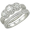 Women's Diamond Ring Style:B773DWR4W-M-L