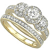 Premium Women's Gold Engagement Bands.
