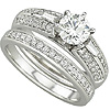 High Quality Men's And Women's Diamond Bridal Engagement Bands.