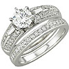 Women's Diamond Ring Style:B775DWR4W-M-L
