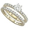 High Quality Women's Diamond Gold Engagement Bands.
