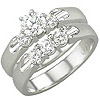 Women's Diamond Ring Style:B905DWR4W-M-L