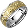 Wedding Band Style:1302 8.0mm (No Milgrain) Custom Order